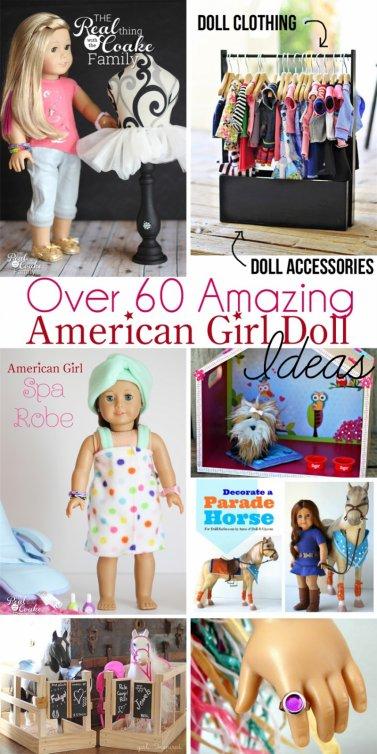 60 idées et tutos pour les american girls, peuvent s'adapter à d'autres poupées.