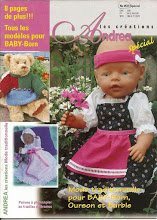 Catalogue pour tricoter et coudre pour nos poupées et nos ours, tenues tyroliennes, robe de baptème...