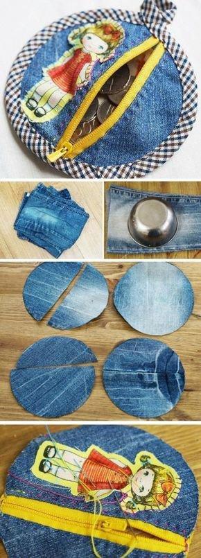 Une copinaute m'a demandé une idée de couture en mode recyclage avec du jean's, la voici.