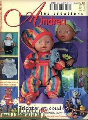 Catalogue pour tricoter, crocheter et coudre pour nos poupées et nos ours.