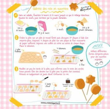 Une petite recette sympa : galette de rois en forme de sucettes.