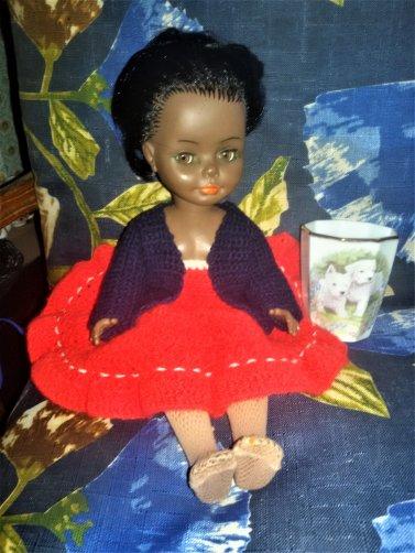 Il y a un moment que je ne trouvais pas de poupées en vide-grenier, mais c'est vrai je ne prends plus que des Cathie et des  Tressy, j'ai quand même fait une petite entorse...