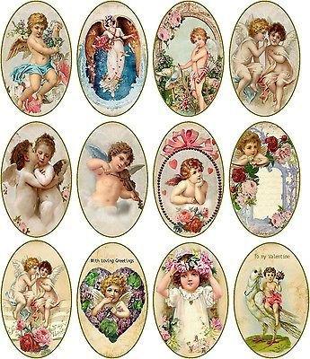 En mode découpage, pour vos cartes, paquets cadeaux, créations...Les anges.