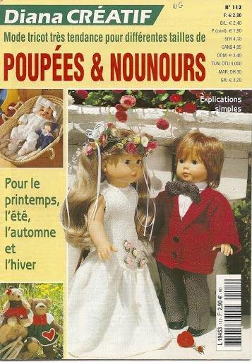 Catalogue pour tricoter pour nos poupées et nos ours.