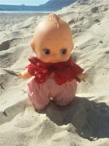 En mode plage avec les tout-petits.