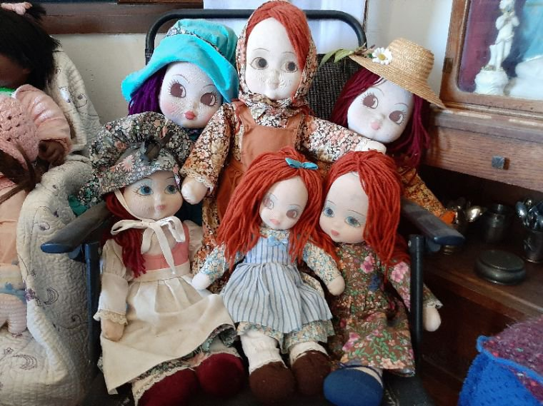 Mes poupées  Bella en chiffon.