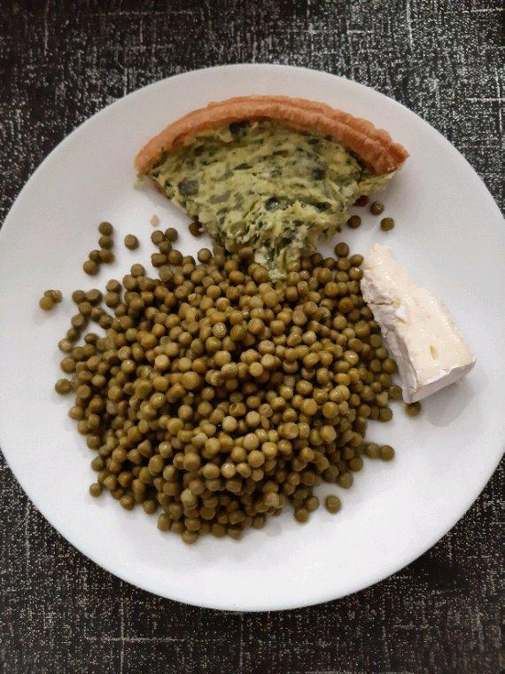 Repas végétarien  préparé  par mes soins  chez ma mère.