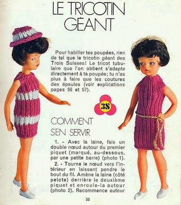 Envie de tricoter pour la poupée Solariane.