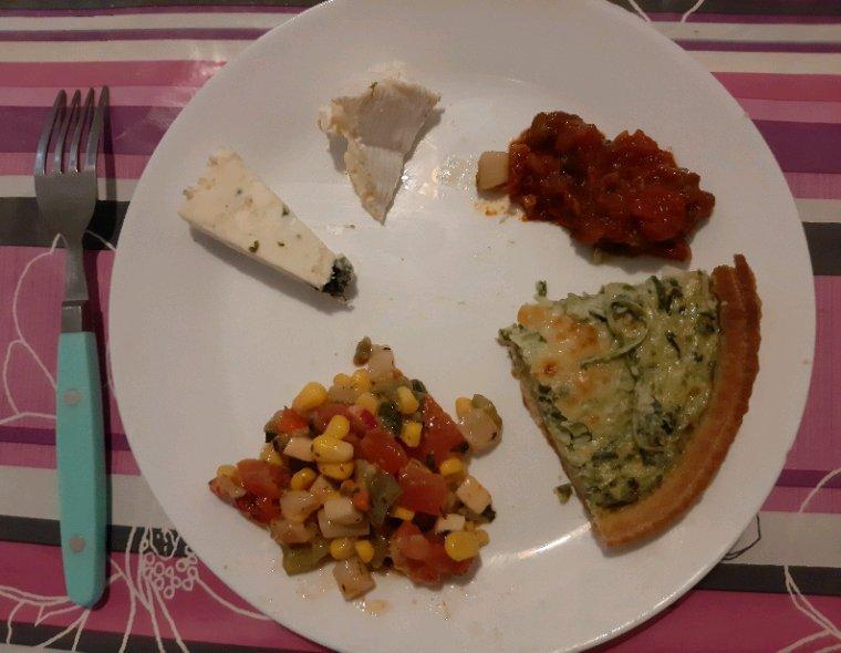 Repas dominical chez ma mère hier. Préparé par mes soins.