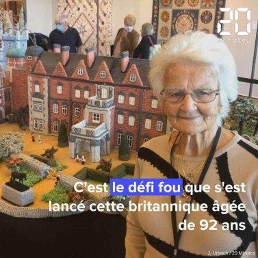 A 92 ans, elle séduit l'Angleterre en reproduisant en tricot la maison de campagne de la reine.