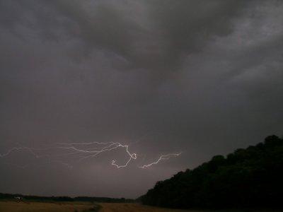 Un orage à Gien .