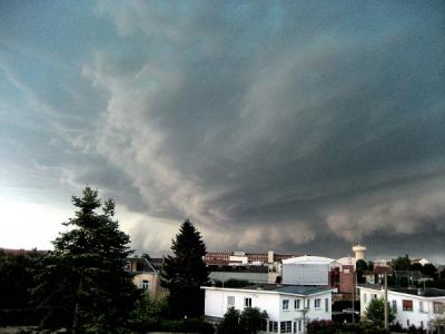 Un orage à Feignies le 14 juillet 2010 .