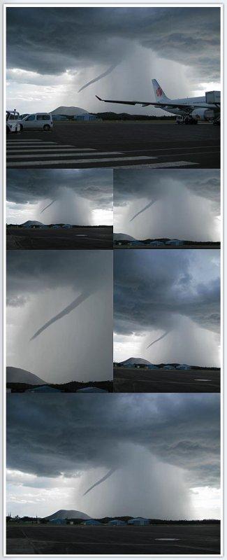 Une tornade en Nouvelle Calédonie le 2 juin 2009  type F1 .