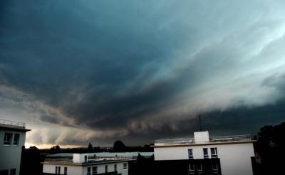 Un orage  à Metz  le 14 juillet 2010 .
