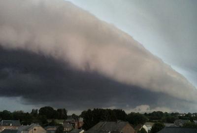 Un orage en Allamagne 14 juillet 2010 .