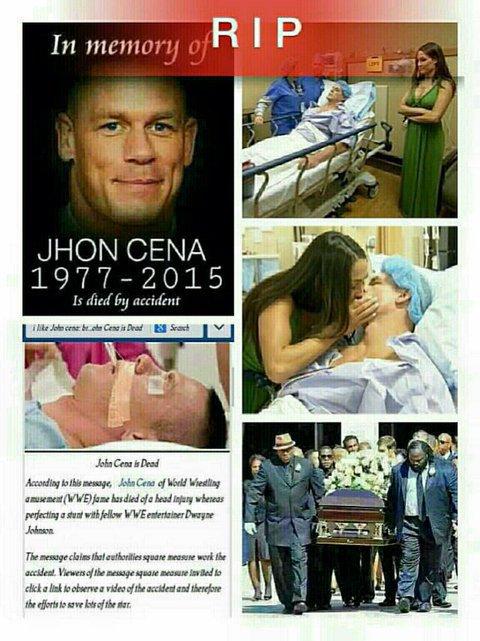 JHON CENA EST MORT