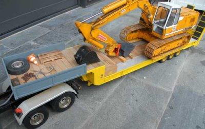 a vendre semi-remorque transport engins de chantier