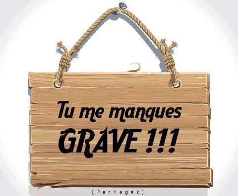 Tu me manques grave for Tu me chambres