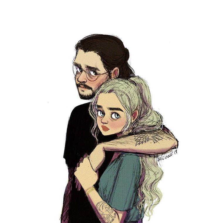 Daenarys et Jon