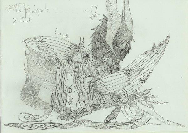 Tyler le dragon noir et la dragoone surpême
