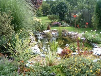 Bassin et massif balade au jardin des reflets for La maison du massif