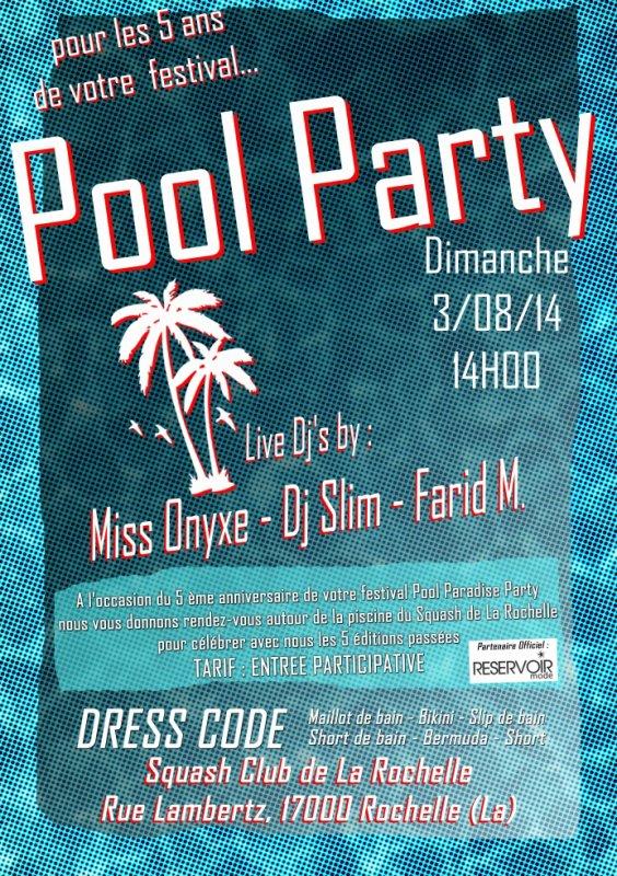 Pool Party du festival Pool Paradise Party 2014