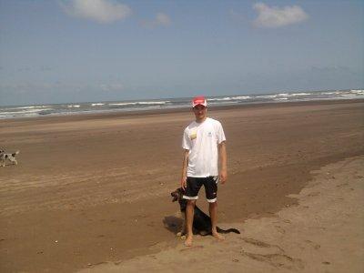 avec mes chiens a la plage