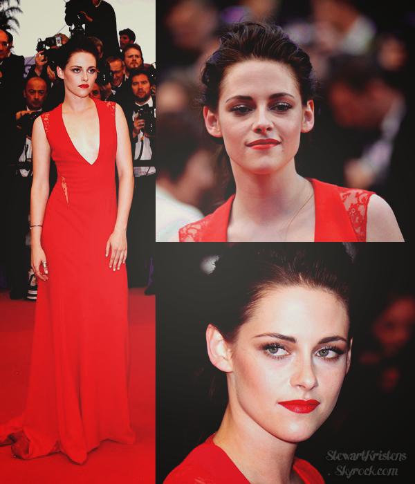 . 25.05.12: Kristen était avec Tom à la première de Cosmopolis à Cannes pour soutenir Rob. Vraiment magnifique dans une robe signée Reem Acra,et assortie au tapis qui plus est. .