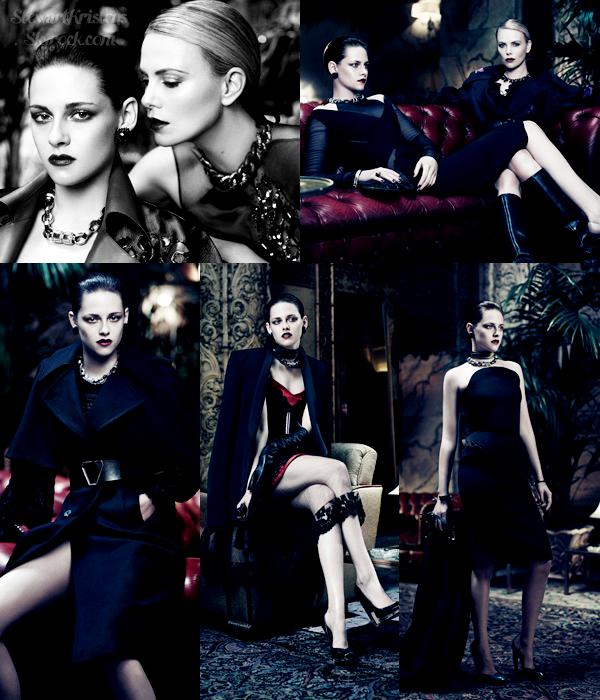""".  Découvre le photoshoot de Kristen & Charlize Theron pour le magazine """"Interview"""" dont elles font la couverture. ."""