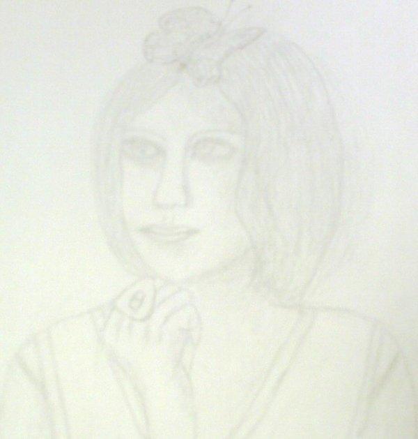 Portrait à crayon: