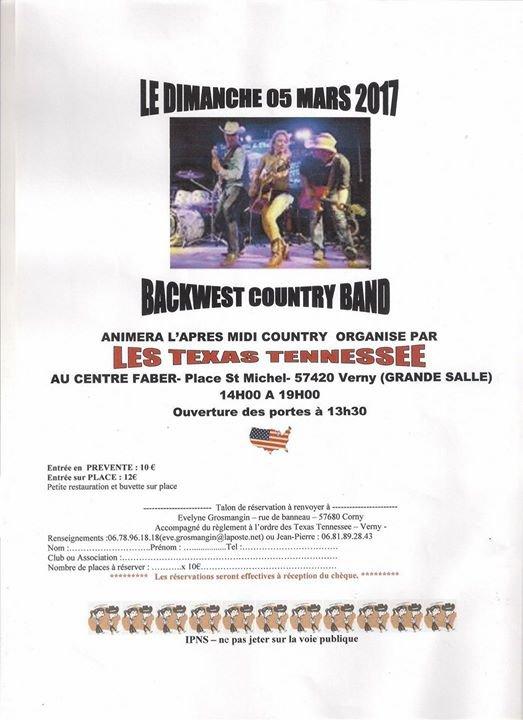 apres midi country par les texas tennessee de verny le 5 mars 2017 de 14h00 a 19h00