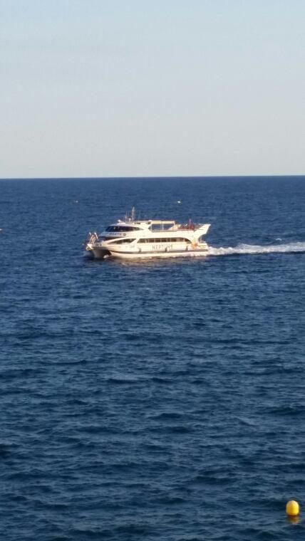En vacance a malgrat de mar en espagne
