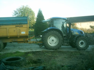 new holland t6030 et ma benne rolland