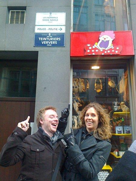 Les Nombrils ont une rue à Bruxelles