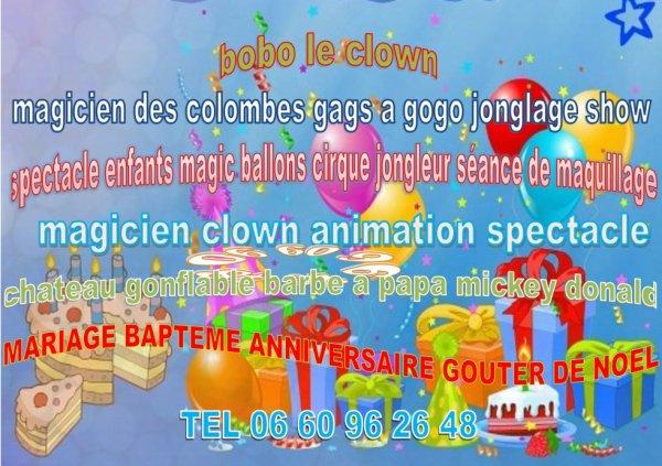 clown anniversaire aubagne animation anniversaire Aubagne