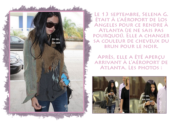 "♦ 13-14.09.2012 | Selena à l'aéroport et sur le set de ""The Getaway"""