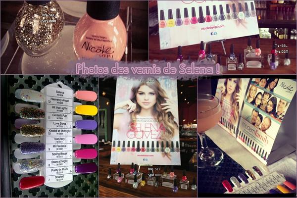♦ 18.09.2012 | Selena sortant du coiffure, des photos de ses vernis et une vidéo du jeu vidéo d'HT