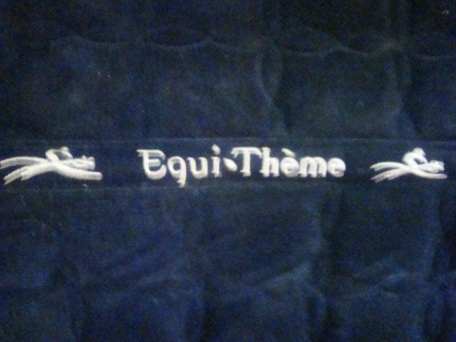 Tapis velour noir Equithème