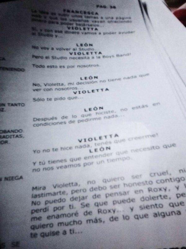 Violetta 3 Leon avoue à Violetta qu'il est amoureux de Roxy