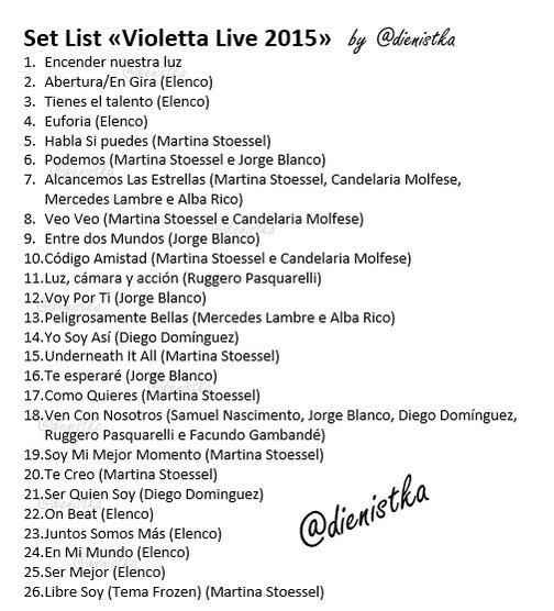 Tout les chanson de violetta live d u peu de chanson de - Violetta chanson saison 3 ...