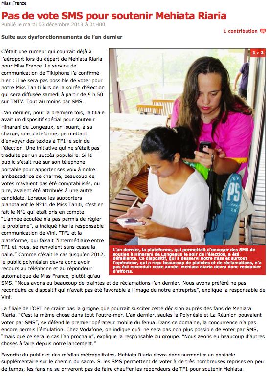La Polynésie privée de vote par SMS :/