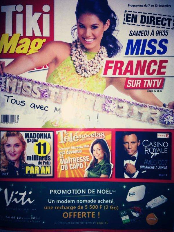 Magazines et journal locaux soutiennent notre Miss Tahiti (J-2)