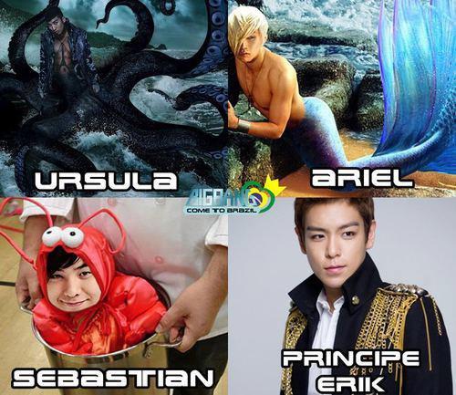 La Petite Sirène de Disney version Bigbang <3