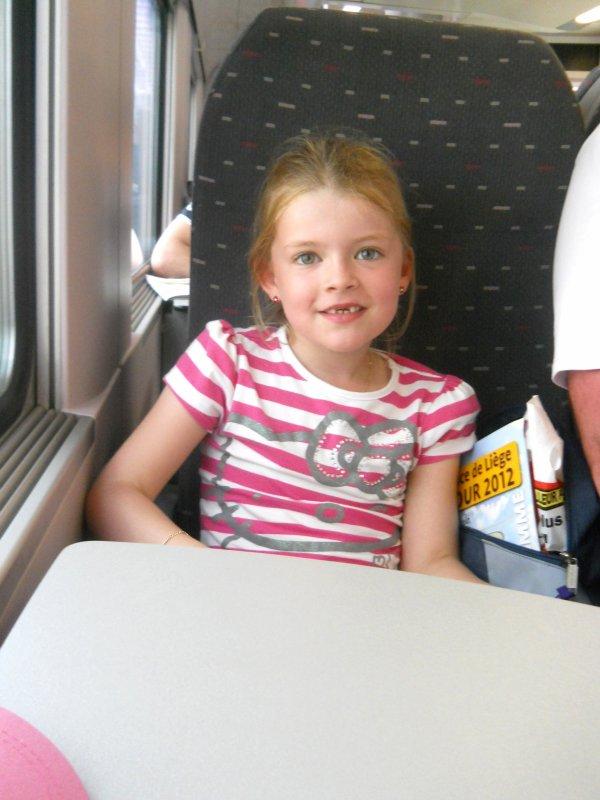 Dans le train.