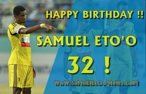 Samuel Eto'o a 32 ans en ce jour.