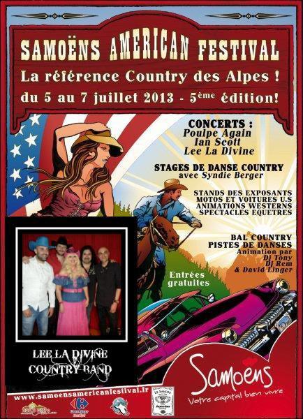 LEE LA DIVINE COUNTRY BAND le 07/07/13 au SAMOENS AMERICAN FESTIVAL (74) Haute-Savoie