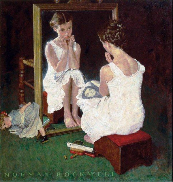 Norman rockwell un gros indice dans pll 4x10 for Se voir dans un miroir
