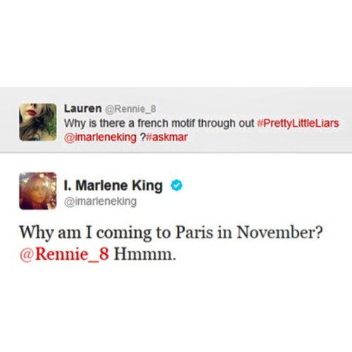 MARLENE KING (PRODUCTRICE DE PLL) EN FRANCE EN NOVEMBRE 2013