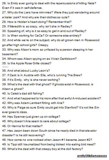 QUESTIONS SANS REPONSES ...