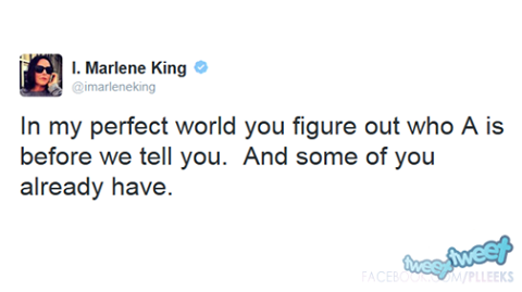 TWEET DE MARLENE KING SUR A